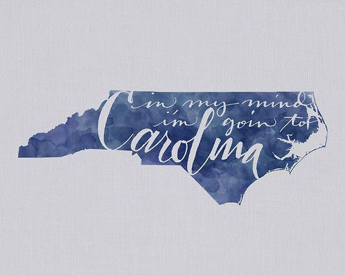 in my mind i'm goin' to carolina :)