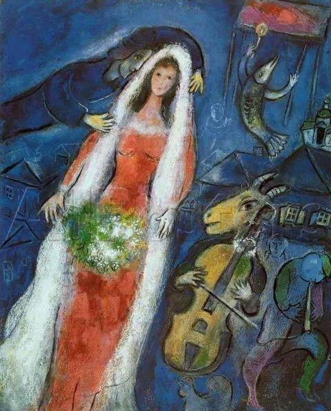Con te Io sono Giovane Cadono I Miei Anni venire foglie E qualcuno colora le mie tele Allora esse brillano di te E sul Tuo Volto Il Sorriso E radioso Più chiaro assai delle nubi Più Chiare Allora io corro dove sei Dove mi Pensi e colomba mi Attendi Marc Chagall