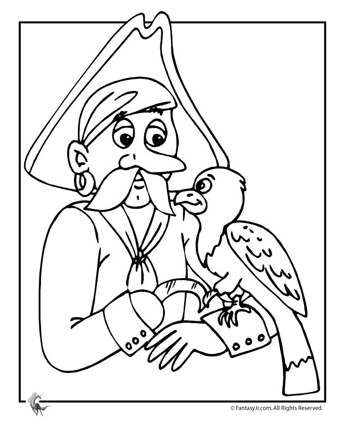 parrot colouring pages