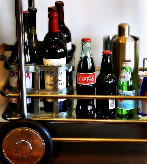 Love the full #barcart at parlor.  They always have lots of goodies on hand!!  #Burbank