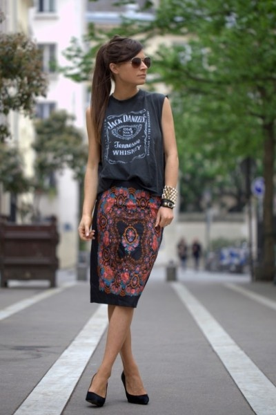 muscle t and skirt