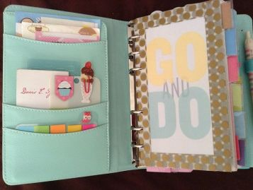 Even after graduating college I still use binders and notebooks. It helps me organize all my thoughts, ideas, to-do lists, goals and steps to achieve them, etc. This is a cute decoration idea for my binders - go and do