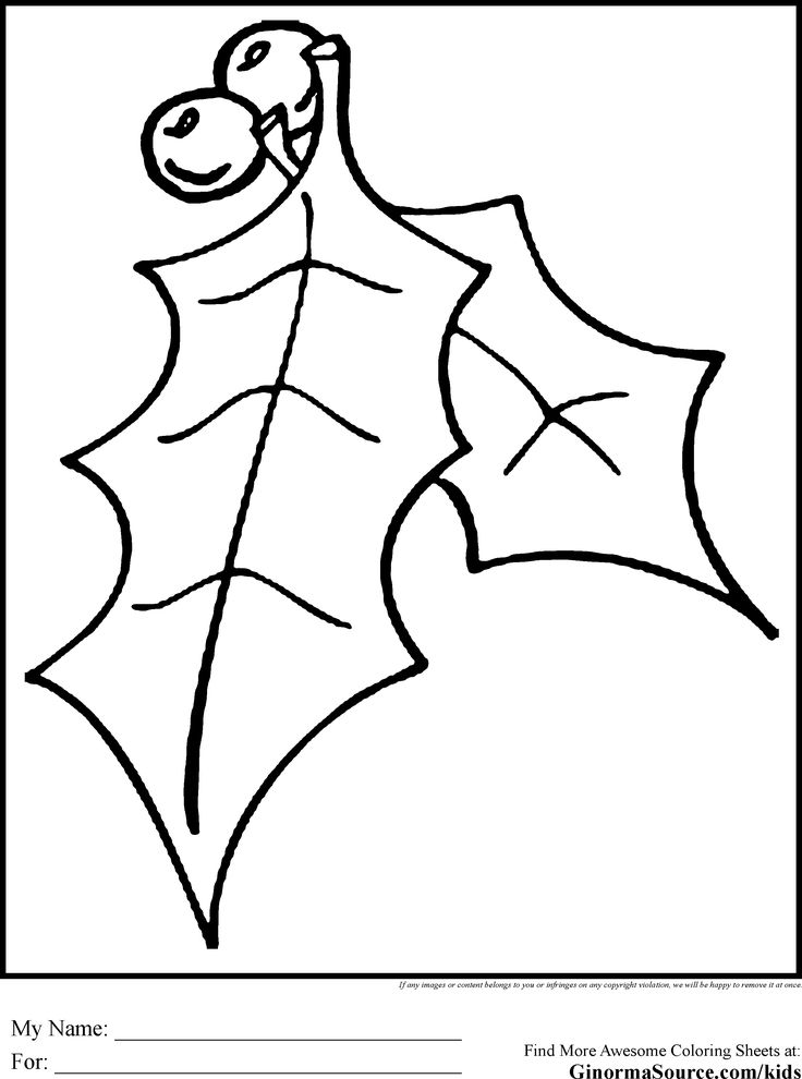mistletoe colouring pages