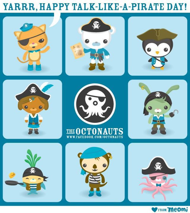 the octonauts for talk like a pirate day octonauts pinterest