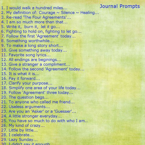 Journal Prompts #9