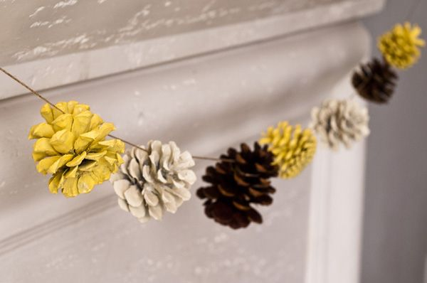 Designer MacGyver: 6 Playful Ways to Fill Your Home With Pinecones (http://blog.hgtv.com/design/2013/11/25/pine-cone-crafts/?soc=pinterest)