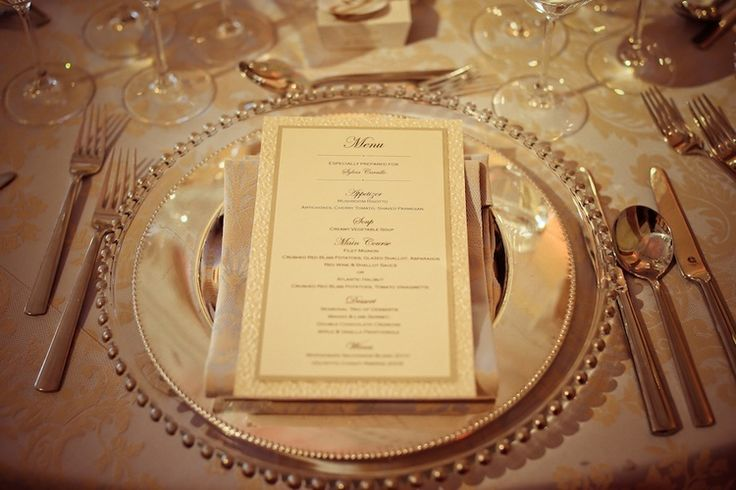 I must have this table setting! Elegant Wedding