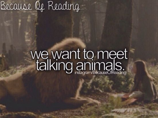 Because of Reading... For Narnia!!❤️