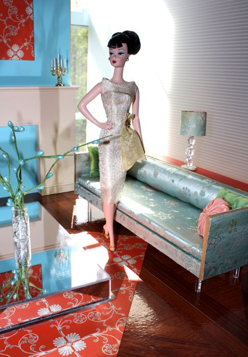 Barbie furniture Innovative mid century modern ideas, great fabrics, amazing dolls and clothes.