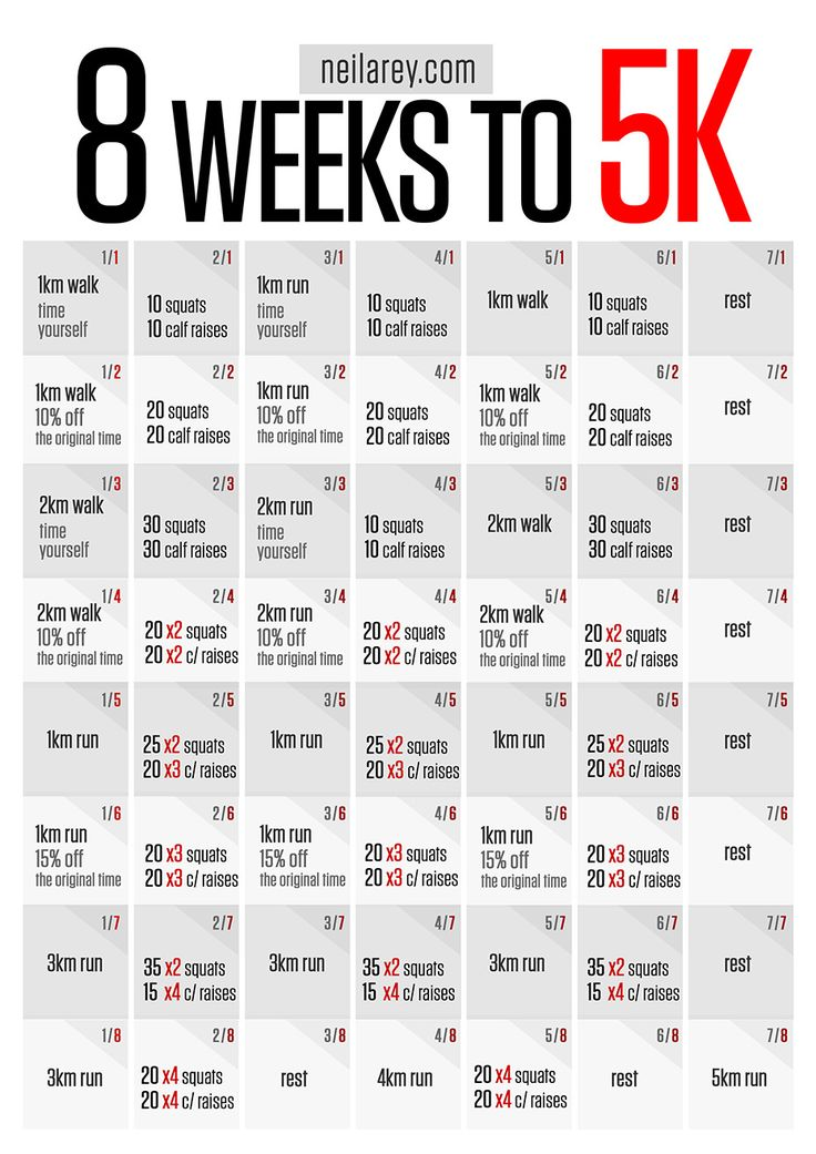 Running Program / 8 week to running 5K #PinYourResolution #fit2014 #running