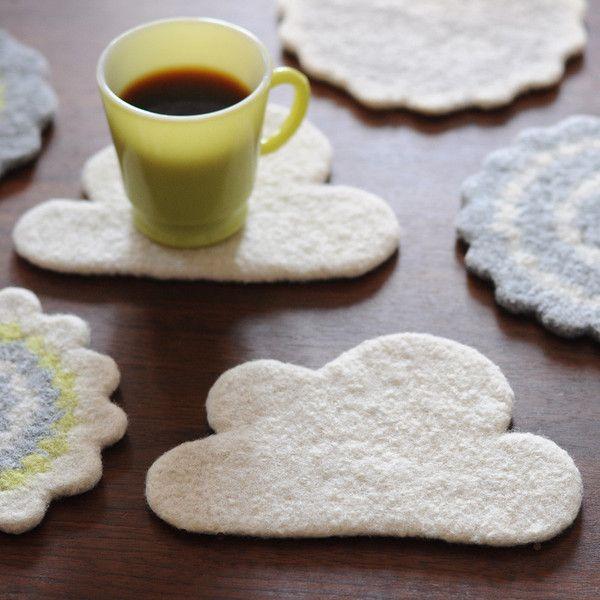 Wooly Nuvem Coaster / Trivet do animal imaginário