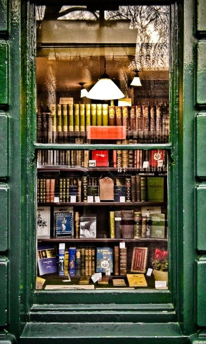 """Second-hand books are wild books, homeless books; they have come together in vast flocks of variegated feather, and have a charm which the domesticated volumes of the library lack.""~Virginia Woolf ... BOOKSHOP WINDOW, Bloomsbury Street by Garry Knight (Photographer. LONDON, ENGLAND)."