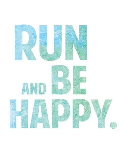 It occurred to me today I'm not running to lose weight! I'm running for my own happiness. And of course to stay healthy! Running makes me happy!!!