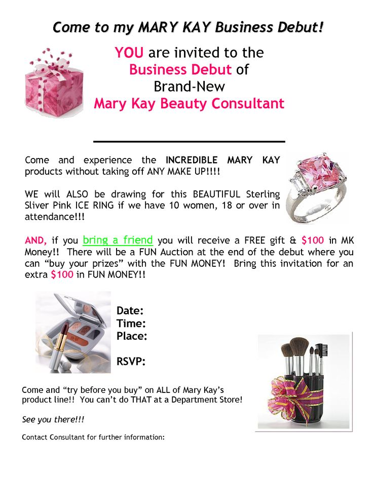 Mary Kay Invitation Templates With Website Publisher Pdf Without