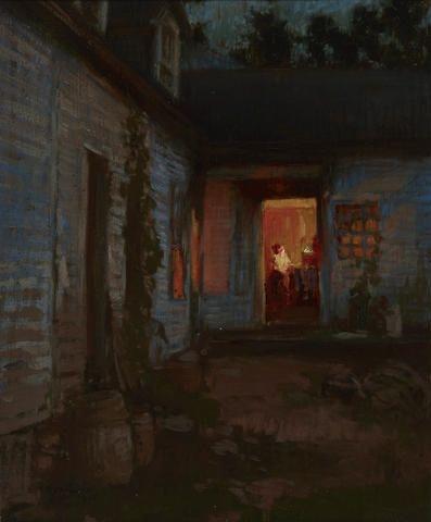 Yoshida Hiroshi (1876-1950), Farmhouse at Night, Tyringham, 1905