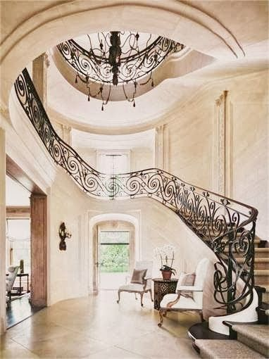 Gorgeous foyer and staircase..