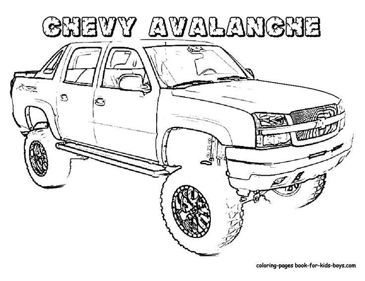 truck coloring pages for boys  truck coloring sheet