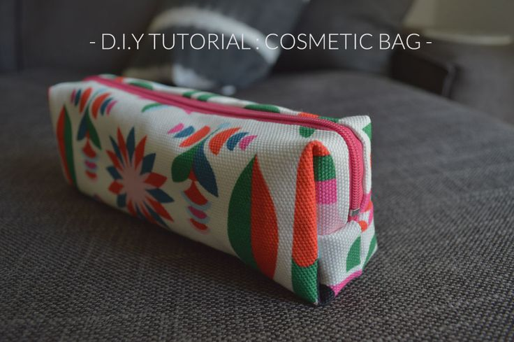 DIY cosmetic bag