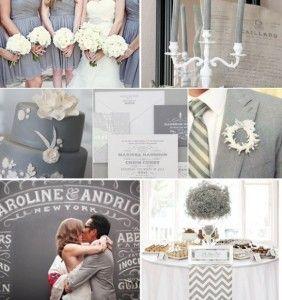grey wedding color palettes1 282x300 Party Simplicity 2013 Neutral Grey Wedding Color trend