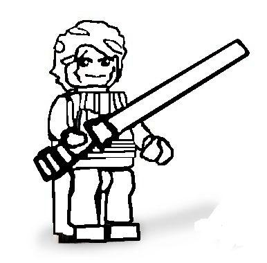 Lego Star Wars Anakin Skywalker coloring page | Free Printable ... | 380x386