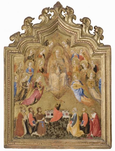 Sano di Pietro Assumption of the Virgin with Hosanna and Musical Angels C 1430-1440 Inv. 227 tempera on board (with original frame)69.3 x 53 cm Siena, Pinacoteca Nazionale