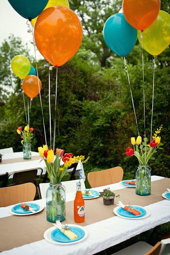 Love the balloons for an outdoor party