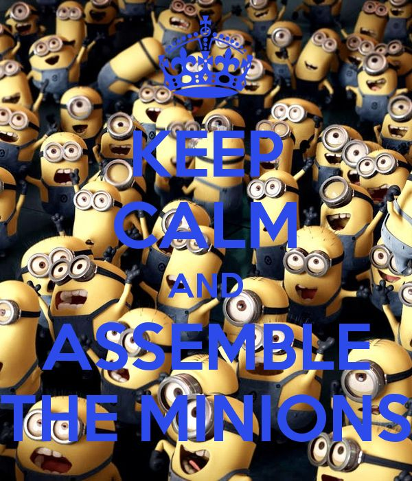 Keep calm and ASSEMBLE THE MINIONS!!!