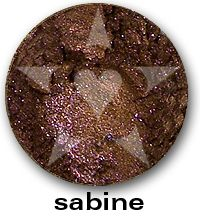 "Sabine has vivid sparks of violet and pink within a base of richly pigmented smokey copper. From Aromaleigh Mineral Cosmetic's ""Bete Noire"" Mineral Eyeshadow Collection... http://www.aromaleigh.com/nebnomieyco.html"