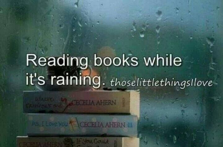 Everything is better when it's raining... Repinned by www.loisjoyhofmann.com I agree, Because when it's raining, I give my self permission to just sit and bury myself in a good book.
