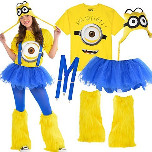 Be despicably you as one of Gru's cute minions! Minion shirts & peruvian hats go great with solid blue & yellow tights, tutus, suspenders & leg warmers!