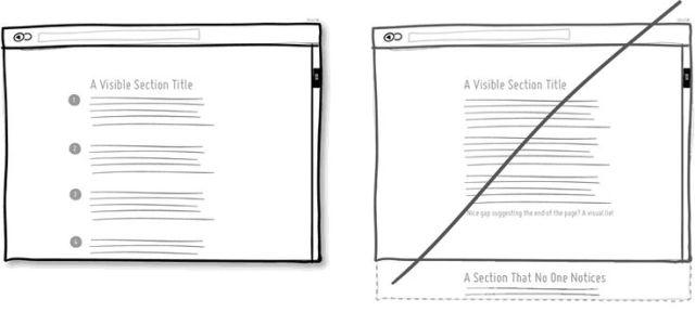 """避免讓使用者產生已經滾到 """"網頁最底部"""" 的錯覺"""
