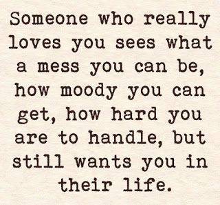 Positive Inspirational Quotes: Someone who really loves you sees...