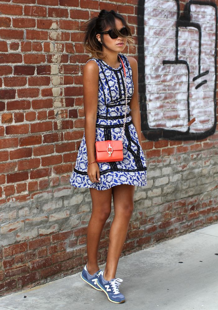 Dress with New Balance Tennis Shoes