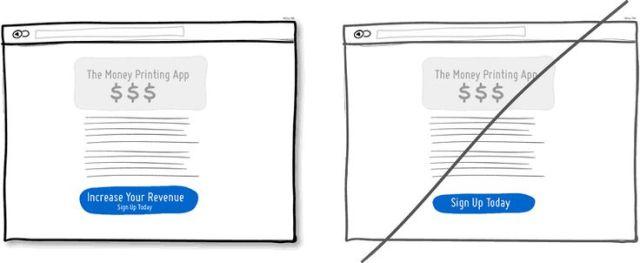 """試著在介面上使用能""""帶給用戶好處的按鈕"""",取代""""任務導向的按鈕"""""""