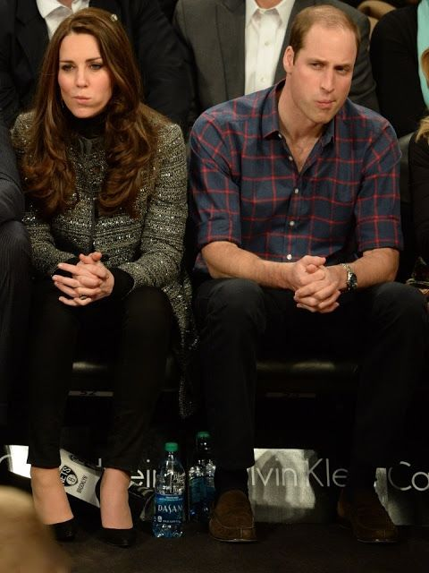 Catherine, Duchess of Cambridge attends Cleveland Cavaliers v. Brooklyn Nets