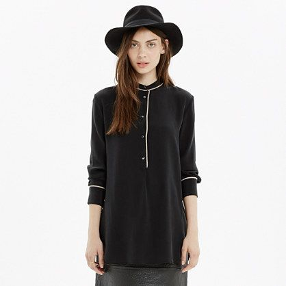 Madewell - The Perfect Tunic in Tipped Silk