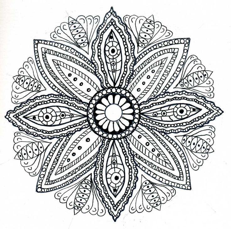 mandala coloring pages pinterest
