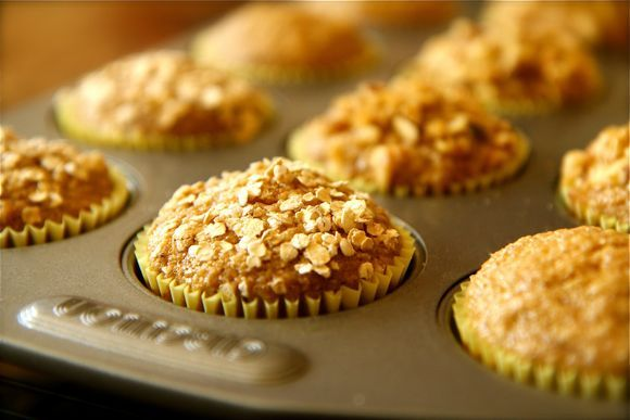 Banana Bran Muffins with Toasted Oat Bran