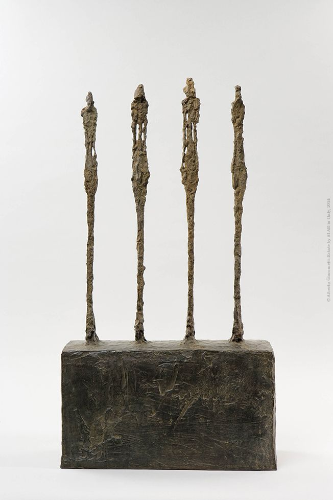 Alberto Giacometti  Four women on a pedestal  1950 Bronze  73.8 x 41.2 x 18.8 cm  Collection Fondation Giacometti, Paris  © Alberto Giacometti Estate by SIAE in Italy, 2014