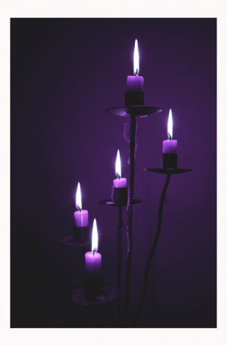 purple candles.