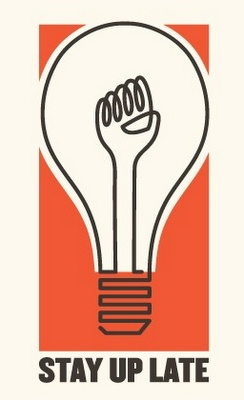 Stay Up Late Poster #poster #Friday #night #art #design #screen #print #design #light #bulb