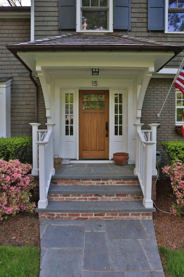 Bluestone Brick Front Entrance Steps Home Decorating   Front House Stairs Design