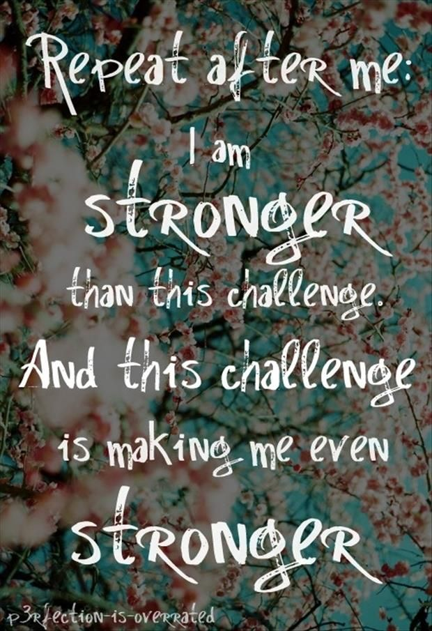 stronger with challenge