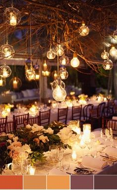 Candle Light Romance: With burnt orange, Plum, Chocolate, Ivory and Champagne colors