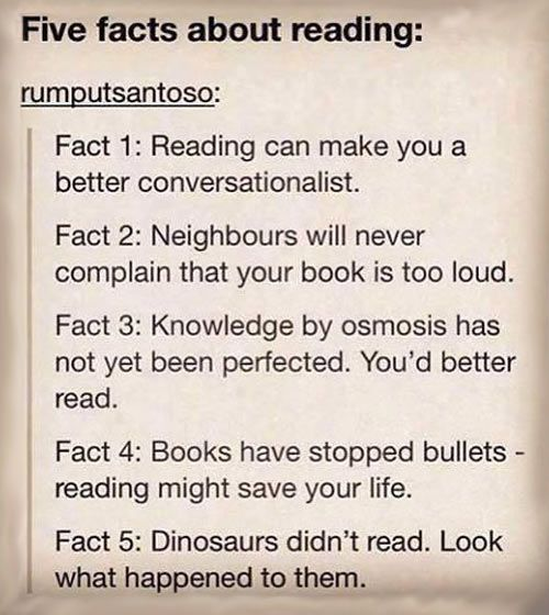 Why reading is important…