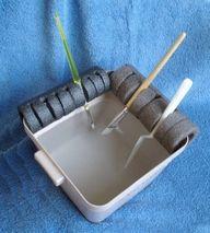Paintbrush holder using pipe insulation