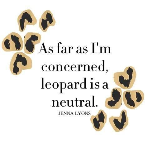 Leopard Fashion Quote