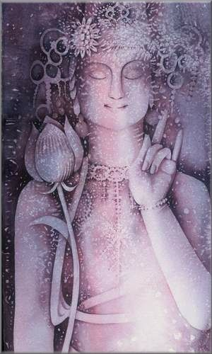 Quan Yin Violet Light    Feel her presence-you can feel it, you can be it.  Have the experience of being Quan Yin.  Let this violet light of Her wash over you and bless you.    Evokes: Blessings of Peace