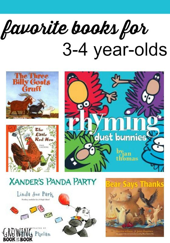 Favorite books for kids age 3-4.