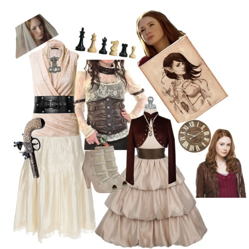 Pink steampunk set - the doctor's next companion